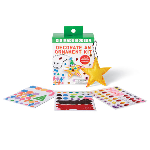 Decorate a Star Ornament Kit 815219024897 $4.99 Kits Kid Made Modern $4.99