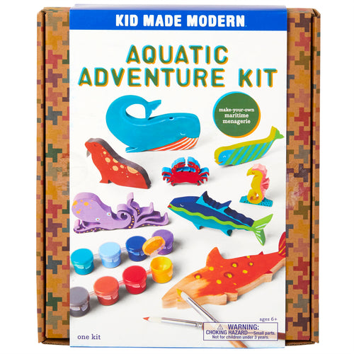 Aquatic Adventure Craft Kit 815219023739 $19.99 aquatic craft, arts and crafts, craft kit, gift, ocean craft, ocean toy, sea animal craft, sea creature craft Kits Kid Made Modern $19.99