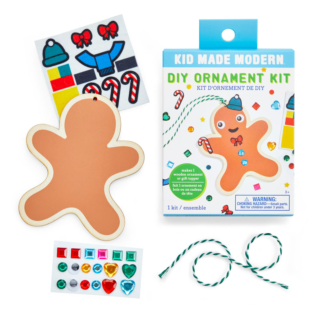 DIY Wooden Gingerbread Ornament Kit