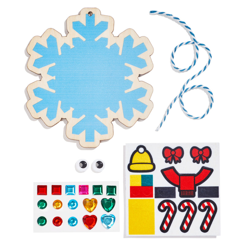 DIY Wooden Snowflake Ornament Kit