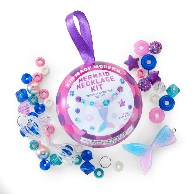 Kid Made Modern Mermaid Necklace Kit with Contents