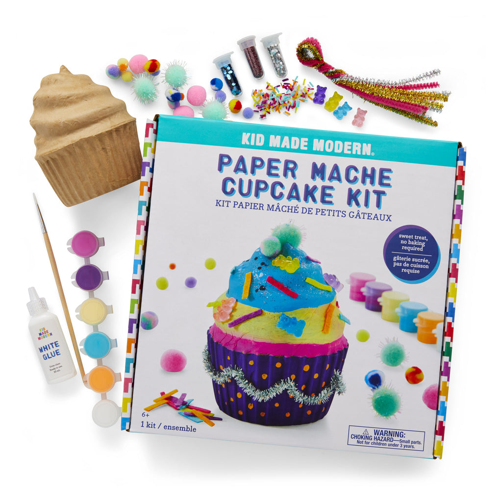 Paint Your Own Paper Mache Cupcake