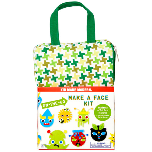 On-The-Go Make a Face Craft Kit 815219022152 $9.99 art kits, art supplies, arts and crafts, christmas crafts, cool diy ideas, craft case, craft idea, craft kit, craft kit ideas, craft projects, crafts, creative, felt, fun easy diy crafts, googly eyes, kid made modern, kids craft ideas, on the go, on the go make a face, sticker sheets, stickers Kits Kid Made Modern $9.99