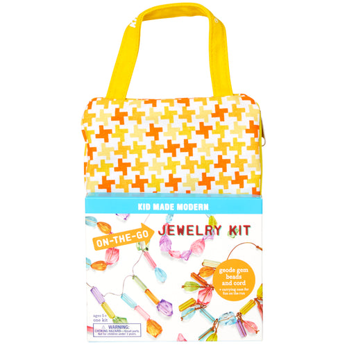 On-The-Go Jewelry Making Kit 815219022169 $9.99 art kits, art supplies, arts and crafts, beads, bracelet, christmas crafts, cool diy ideas, craft case, craft idea, craft kit, craft kit ideas, craft projects, creative, custom, fashionable, fun easy diy crafts, jewelry, jewelry kit, kid made modern, kids craft ideas, kit, necklace, on the go, on the go jewelry kit Kits Kid Made Modern $9.99