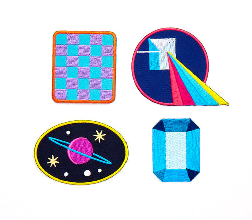 Galactic Iron-On Patches (Set of 4)