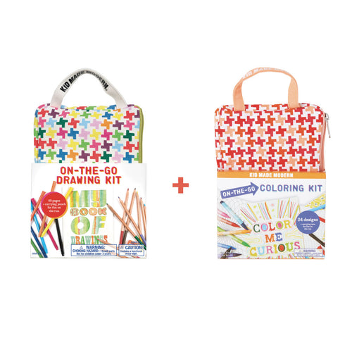 On-The-Go Drawing and Coloring Set 815219024033 $17.00 Kits Kid Made Modern $19.98