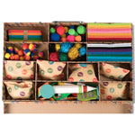 Kids Arts and Crafts Project Supply Kit Open with Packages