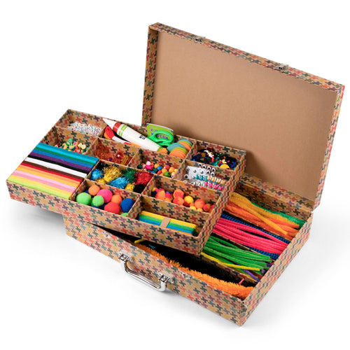 Arts and Crafts Supply Library 851224006909 $39.99 animals, art kits, art supplies, arts and crafts, arts and crafts case, arts and crafts library, beads, christmas crafts, cool diy ideas, craft case, craft idea, craft kit, craft kit ideas, craft projects, crafter, crafts, creative, fun easy diy crafts, gift, glue, googly eyes, jewelry, kids craft ideas, library, plants, scissors, smarts and crafts, sparkle, Todd Oldham Kits Kid Made Modern $39.99