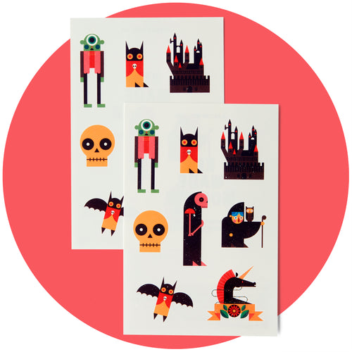 Spooky Tattly Tattoos (Set of 16)