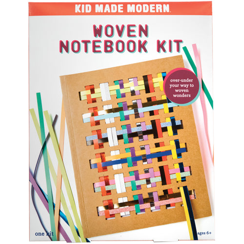Woven Notebook Craft Kit 851224006695 $14.99 art kits, art supplies, back to school, chipboard, christmas crafts, cool diy ideas, craft case, craft idea, craft kit, craft kit ideas, craft projects, creative, embroidered notebook kit, fun easy diy crafts, journal, kid made modern, kids craft ideas, kit, notebook, paper, paper sheets, paper stripes, rainbow, school, school supplies, schoolsupplies, weave, weaving, woven, woven notebook kit Kits Kid Made Modern $14.99