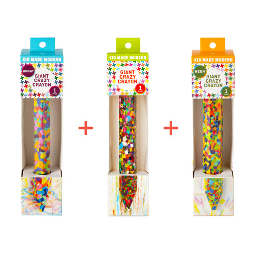 Giant Crazy Crayon Set of 3 815219023975 $16.97 Crayons Kid Made Modern $20.97