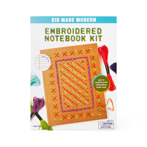 Embroidered Notebook Craft Kit 851224006701 $14.99 art kits, art supplies, arts and crafts, christmas crafts, cool diy ideas, craft case, craft idea, craft kit, craft kit ideas, craft projects, creative, custom, design, embroidered notebook kit, embroidery, fun easy diy crafts, journal, kid made modern, kids craft ideas, kit, notebook, notebook kit, pattern, project, stitching Kits Kid Made Modern $14.99