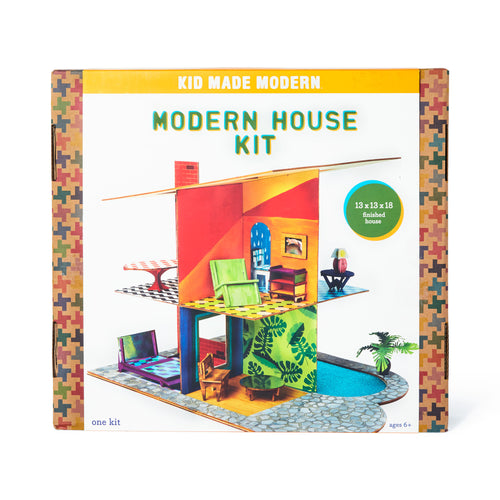 Modern House Craft Kit 851224006350 $39.99 acrylic paint, architects, art kits, art supplies, assemble, brushes, christmas crafts, cool diy ideas, craft case, craft idea, craft kit, craft kit ideas, craft projects, creative, custom, decorate, designers, fun easy diy crafts, house, house kit, kid made modern, kids craft ideas, kit, modern house kit, paint, patterns, project Kits Kid Made Modern $39.99