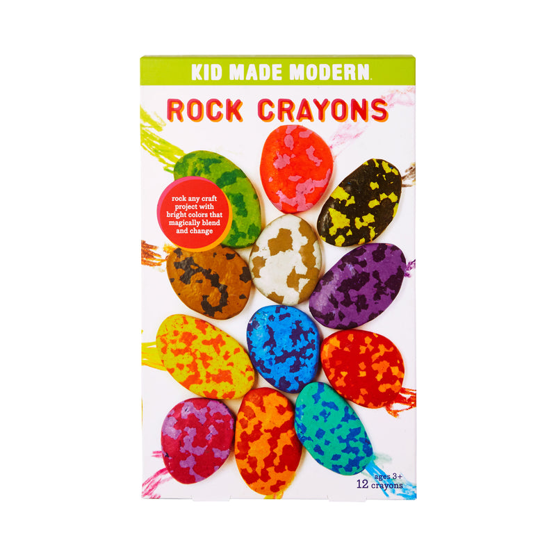 Fun Rainbow Rock Crayons for Kids Arts and Crafts