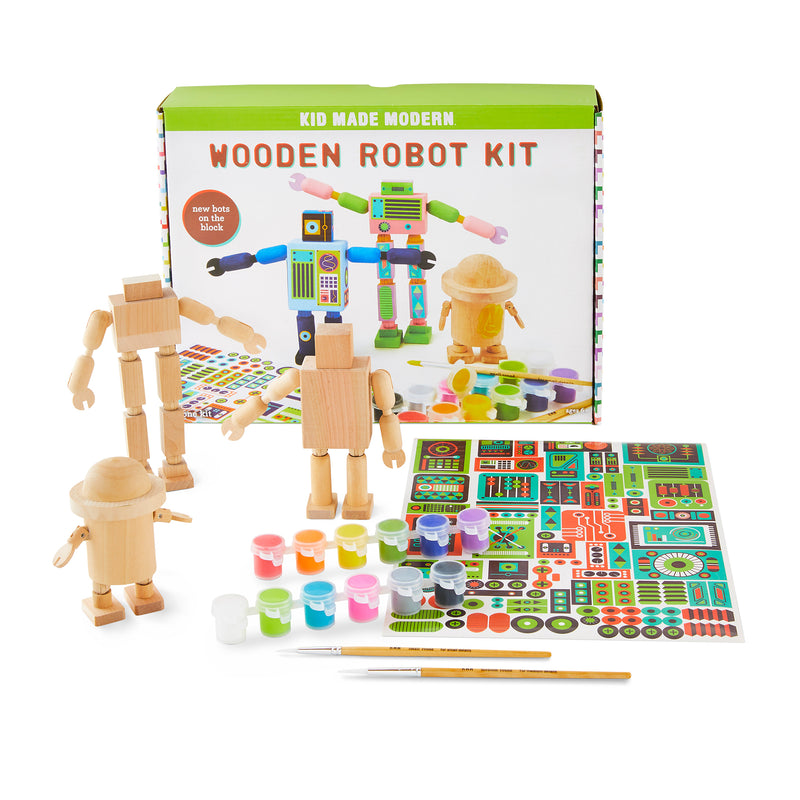 Wooden Robot Craft Kit