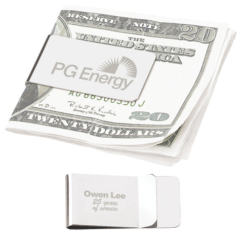 20124 - CHROME MONEY CLIP