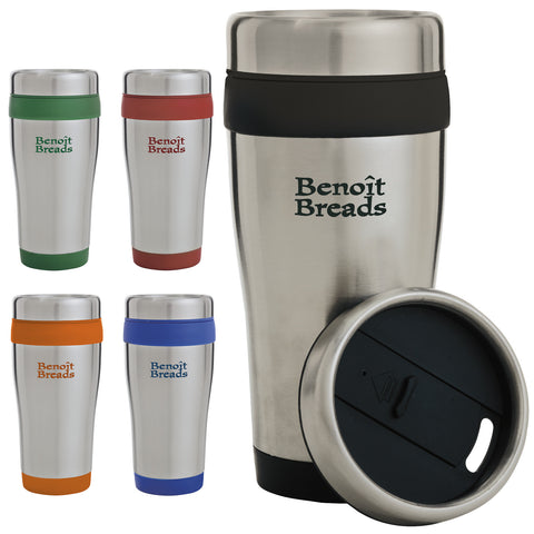 Color Band Travel Tumbler - 14 oz, 45851