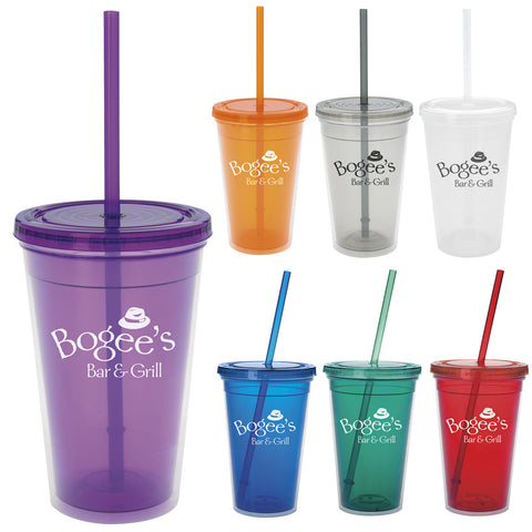 Double Wall Translucent Tumbler – 18 oz, 45908