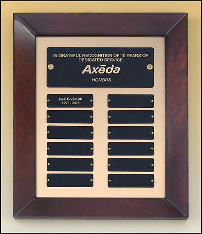 Perpetual Plaque with 12 Black Brass Plates