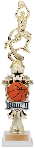 Basketball Fully Assembled Trophy