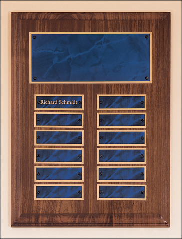 Perpetual Plaque with Sapphire 12 Plate Finish