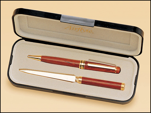 Rosewood Pen and Letter Opener Set