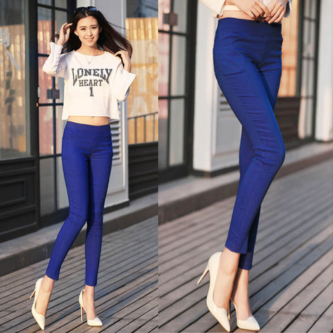 Bright Blue Cotton Pants - Empire Finery