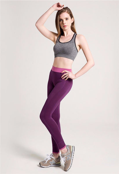 Classic Light Weight Elastic Leggings - Black/Gray/Purple/Red - Empire Finery