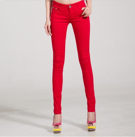 Candy Colored Mid Waist Skinny Jeans - Empire Finery
