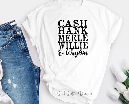 Cash, Hank, Merle, Willie & Waylon Tee