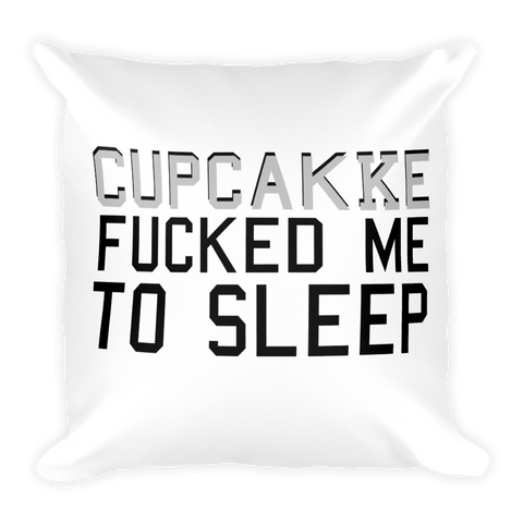 ''cupcakKe fucked me to sleep'' Black Pillow
