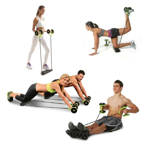 Abdominal Waist Slimming Trainer  Exerciser Ab Roller Core Double AB Wheel Fitness Home Workout Tool Gym Equipment Women Men - Latest And Greatest