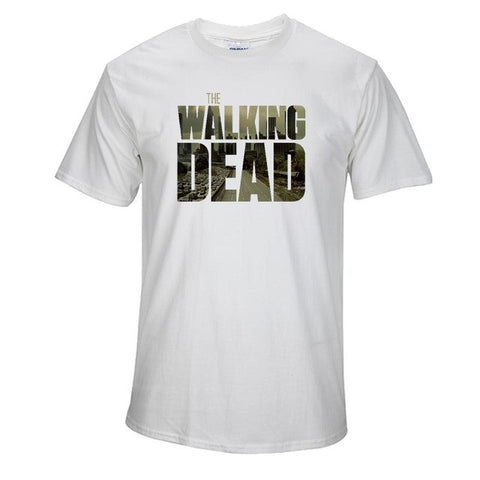 CXT09 100% COTTON t-shirt short sleeve Tshirt print casual tee shirt men twd the walking dead print T shirt - Latest And Greatest
