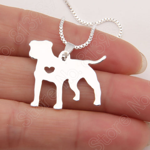 1pcs PitBull Necklace Pendant Pit Bull Heart Pendant Dog Pet Necklaces & Pendants Women Animal Charms Christmas Gift Lead Free - Latest And Greatest