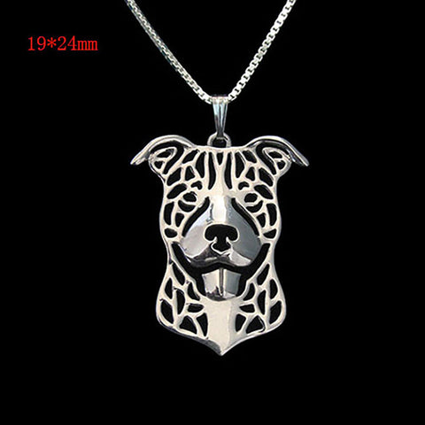 1pcs Pit Bull Necklace Pitbull Dog Pendant Pet Puppy Necklaces Hollow out Delicate Women Necklace Animal Charms Christmas Gifts - Latest And Greatest