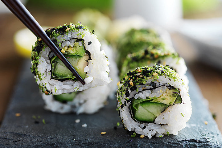 Kale and Avocado Sushi Rolls