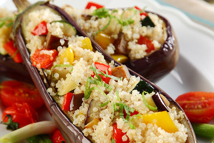 Stuffed Roast Eggplant