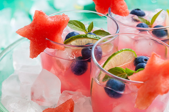 Watermelon and Blueberry Cooler