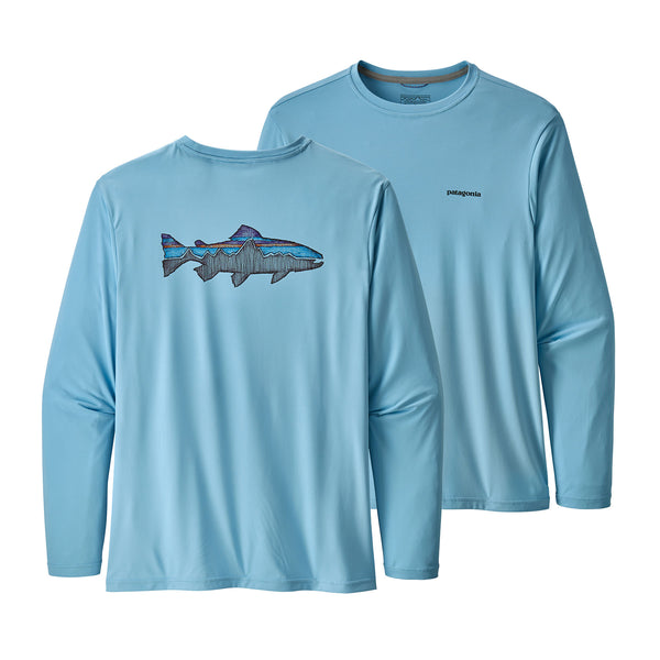 Men's L/S Capilene Cool Daily Fish Graphic Shirt