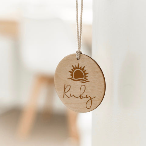 Sunrise Personalised Tag