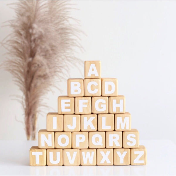 Alphabet Blocks Four Sided