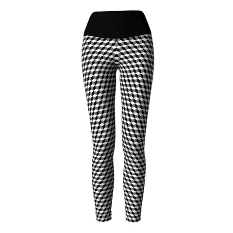 Dark Cubes Yoga Leggings at Alpha Thread