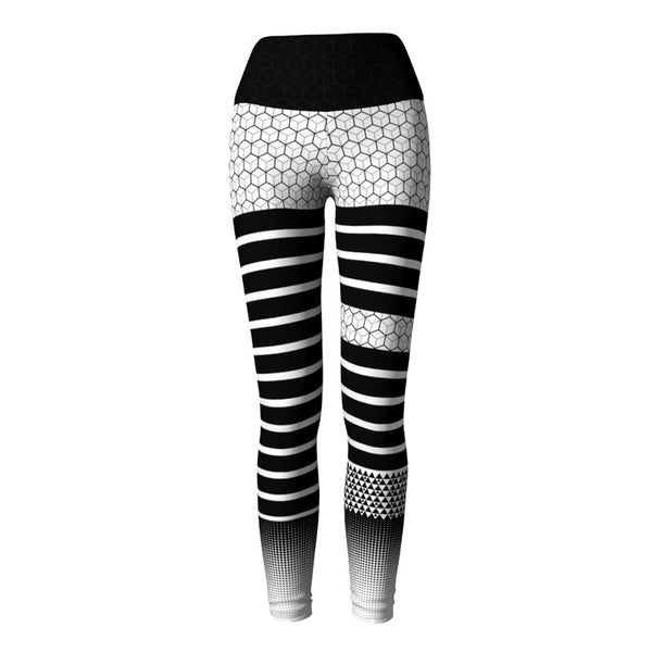 Geometric Yoga Leggings at Alpha Thread