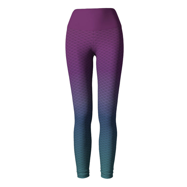 Mermaid Yoga Leggings at Alpha Thread