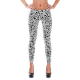 White Mosaic Leggings at Alpha Thread