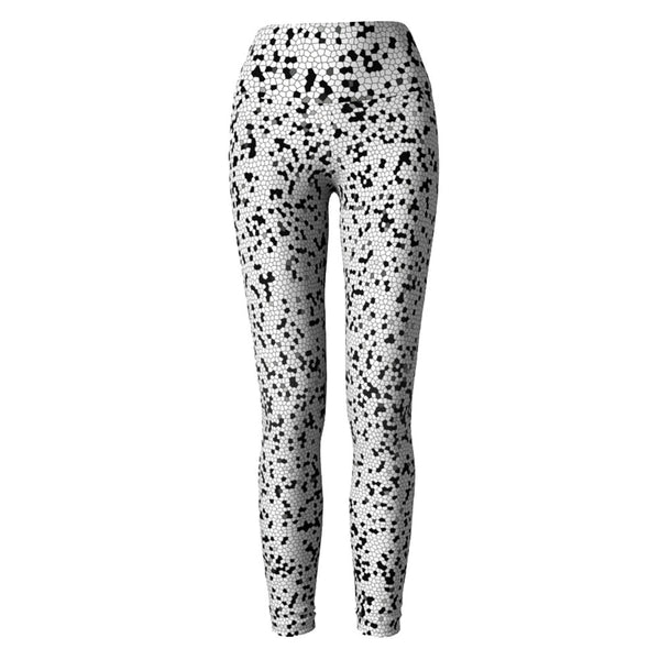 White Mosaic Yoga Leggings at Alpha Thread