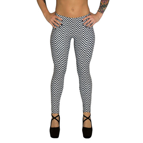 Zig Zag Leggings at Alpha Thread