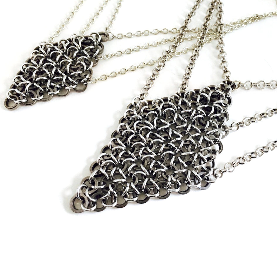 Diamond Bike Chainmail Necklace, Bike Jewelry, [collection], LINKS by Annette