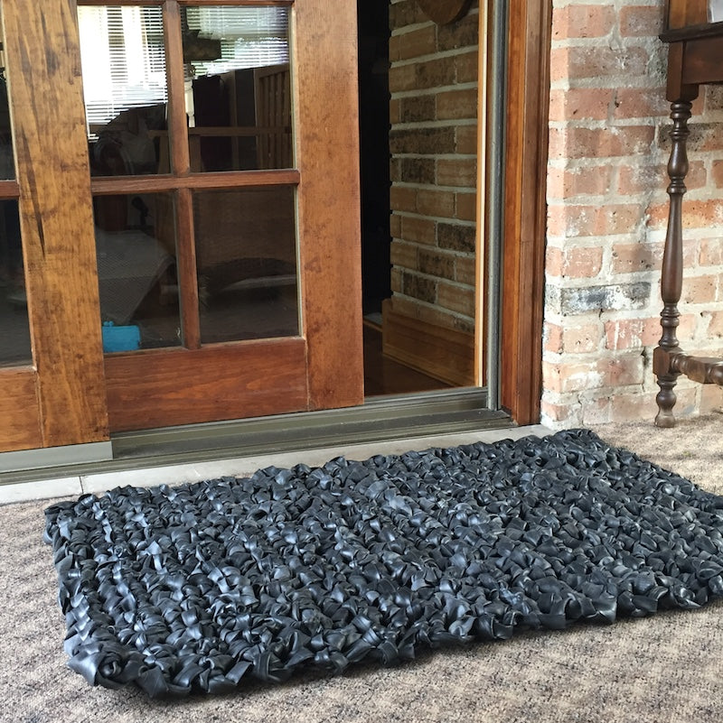 Indoor/Outdoor Inner Tube Mat, Home goods, bike art, chicago, recycled bike parts, Bike gifts, LINKS by Annette