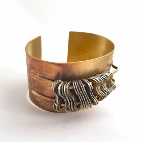 Brass Bike Cuff, Bike Jewelry, [collection], LINKS by Annette